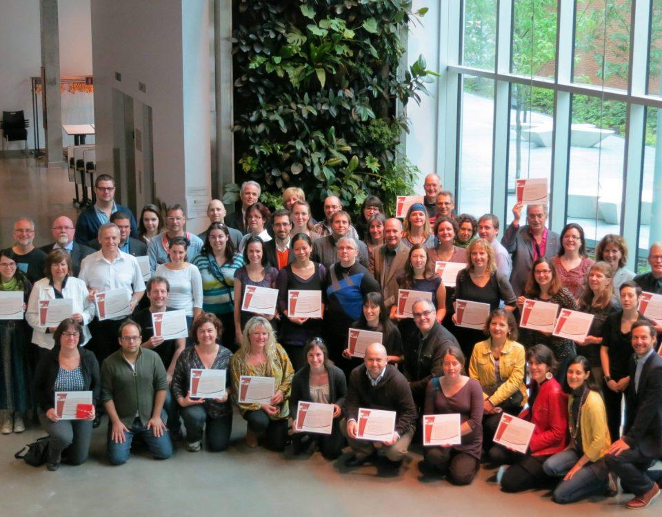 Photo de l'ensemble des participants au Cégep vert du Québec